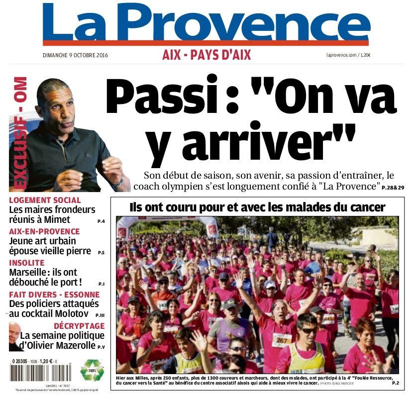 La Provence 09/10/2016 - La Foulée